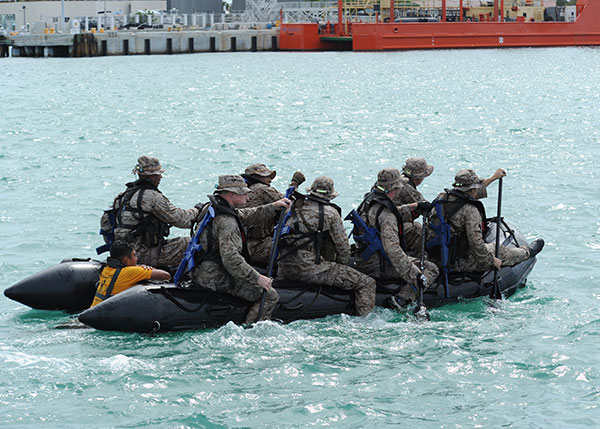 MARSOC zodiac training