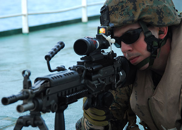Force Recon M249 gunner