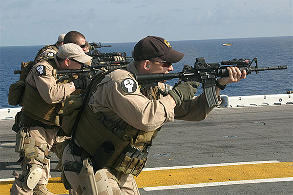 Force Recon Marines with M4 with eotechs