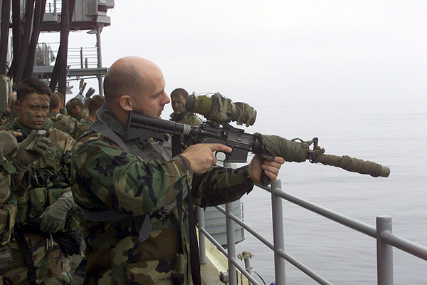 Force Recon Marine with AN/PVS-17