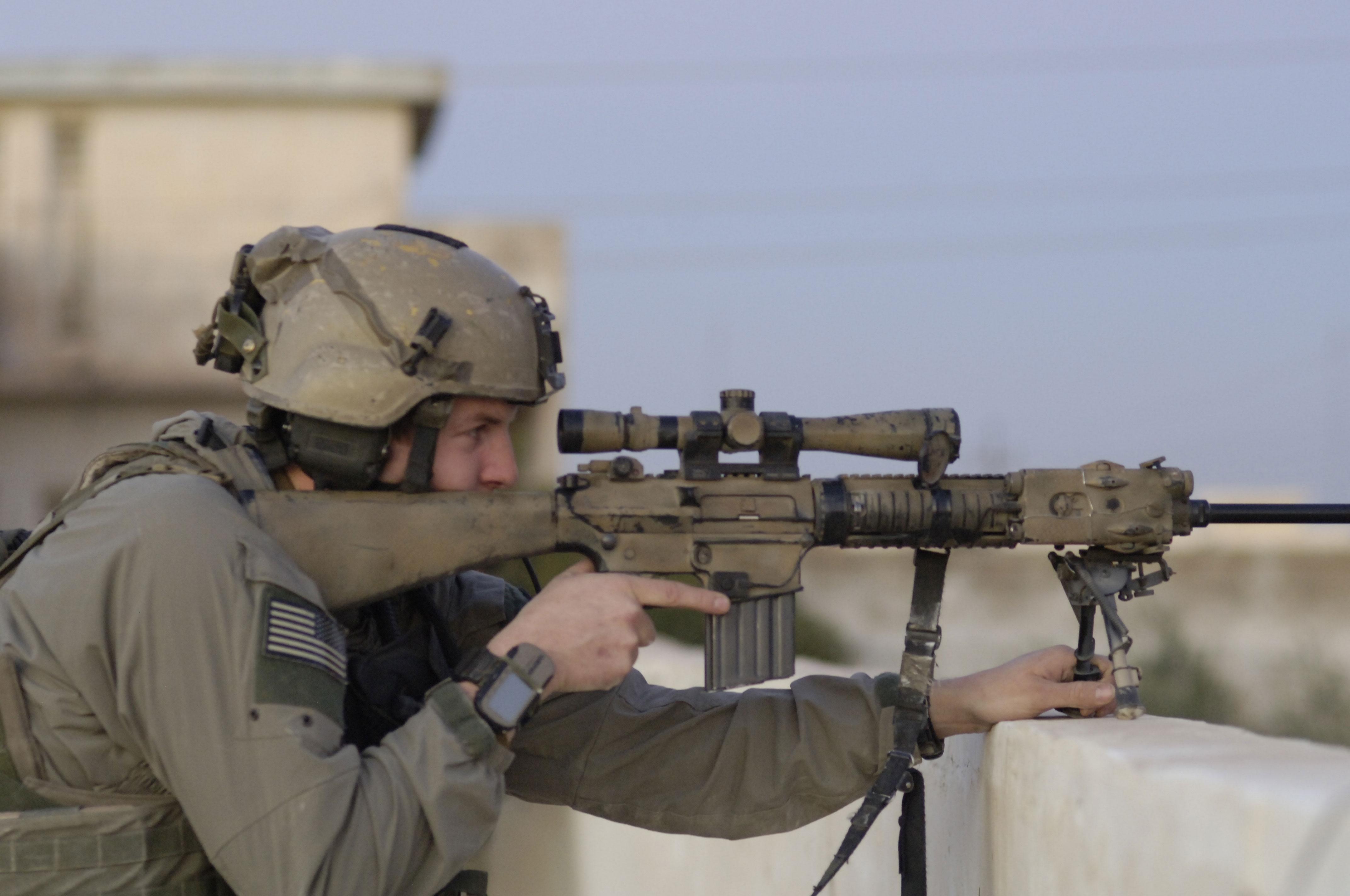 Ranger With Sr 25 Sniper Rifle