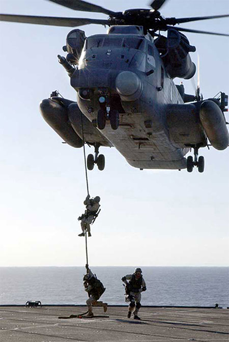 MH-53j Pavelow III rope ladder extraction.