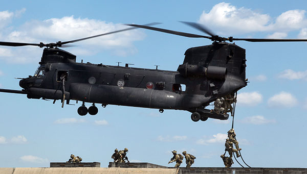 MH-47G fast-rope