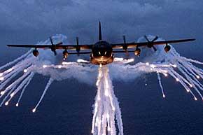MC-130E flares
