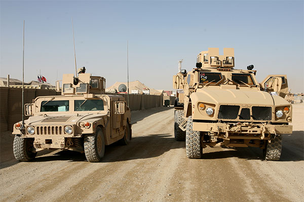 M-ATV and HMMWV