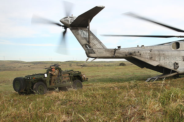 M1161 LSV - helo insertion