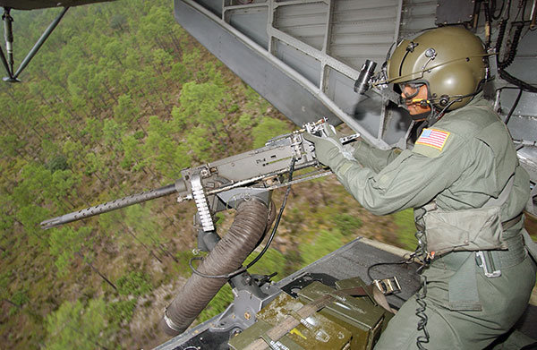 m2 machine gun on helicopter